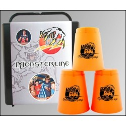 Speed Stacking: FlashCups (12Stk. Neonorange)+ Lunchbox+DVD