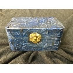 Holzkiste blau klein