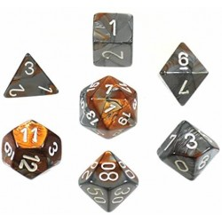 CopperSteel white Gemini Polyhedral 7 Die Sets CHX26424