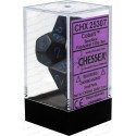 Cobalt Speckled Polyhedral 7 Die Sets CHX25307