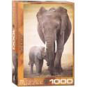 Puzzle Elephant & Baby 1000T 6000-0270