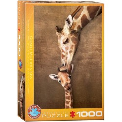 Puzzle Giraffe Mothers Kiss 1000T 6000-0301