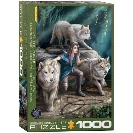 Puzzle Wolves Family by A. Stokes 1000T 6000-5476