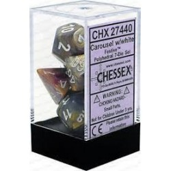 Festive Carousel white Signature Polyhedral 7 Die Sets CHX27440