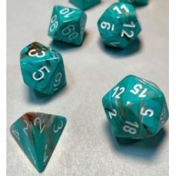 CHX27403 Marble Oxi Copper white Polyhedral 7 Die Sets