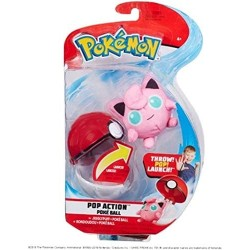 Pokeball Action Set mit Plüschfigur Pummeluff