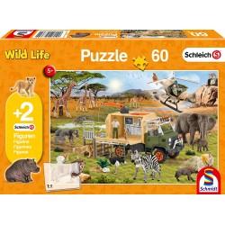 Puzzle Schleich Tierrettung 60T
