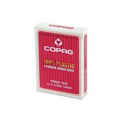 Copag 100% Plastik Poker Karten Jumbo Index - Rot
