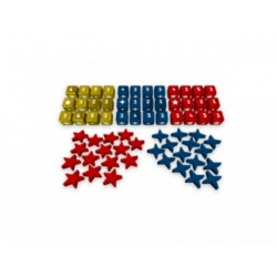 Europe Divided: Wooden Dice and Meeples Set