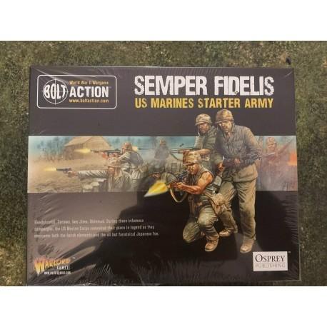 Bolt Action Semper Fildelis US Marine Corps Starter Army