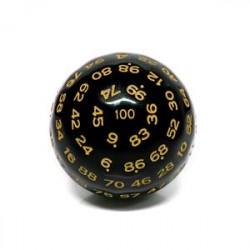 Würfel D100 Black/Yellow