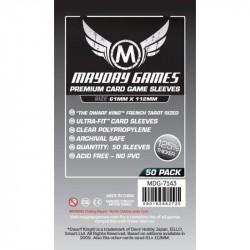 Mayday Games Magnum Platimun Card Sleeves Dwarf King 50 61x112mm 7143