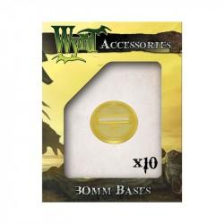 Gold 30 mm Translucent Bases 10 pack