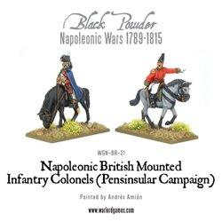 Black Powder Napoleonic Mounted British Infantry officers (Peninsula)