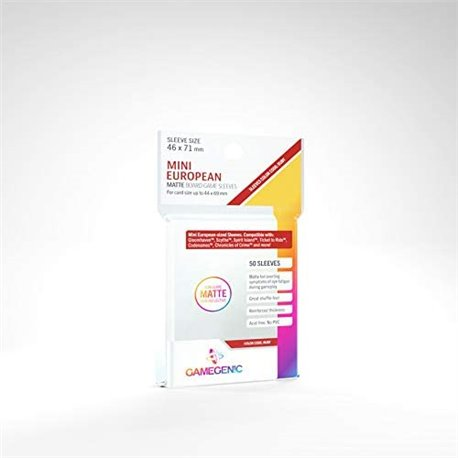 Gamegenic PRIME Mini European-Sized Sleeves 46 x 71 mm Kartengröße 44x69 mm (50)