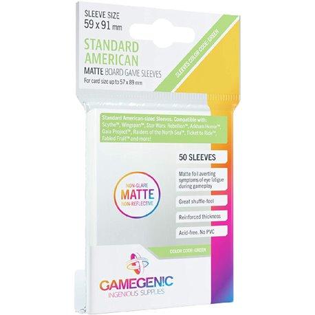 Gamegenic MATTE Standard American Sized Sleeves 59 x 91 mm Kartengröße 57x89 mm (50)