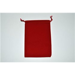 CHX02374 Suedecloth Dice Bag Red Small