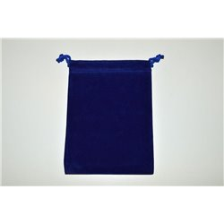 CHX02376 Suedecloth Dice Bag Royal Blue Small
