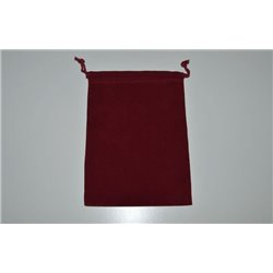 CHX02393 Suedecloth Dice Bag Burgundy Large