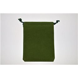 CHX02395 Suedecloth Dice Bag Green Large