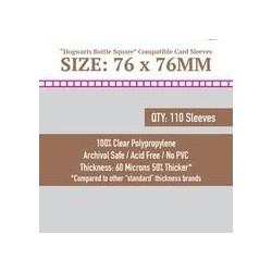 Sleeve Kings Hogwarts Battle Square Card Sleeves (76x76mm) 110 Pack