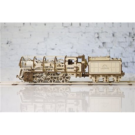 Ugears Holzpuzzle Dampflokomotive mit Tender
