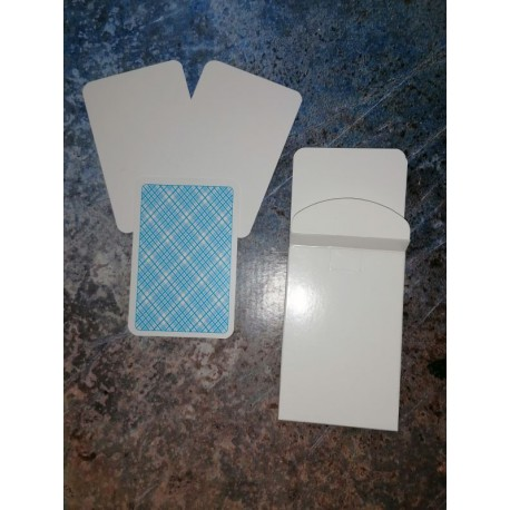 Blanko Karten Faltschachtel 33 Blatt Rückseite kariert 100x65