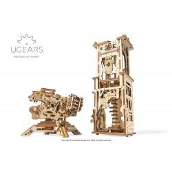 3D Holzpuzzle Ugears Archballista Tower