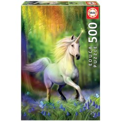 Puzzle Einhorn im Regenbogen 500T