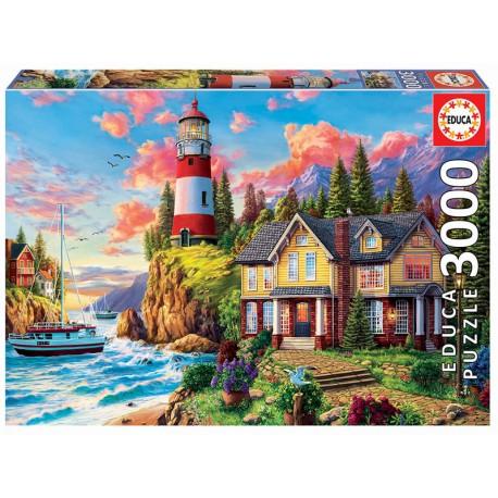 Puzzle Leuchtturm 3000T