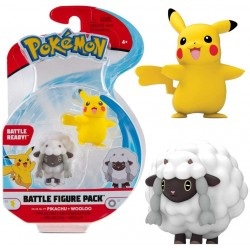 Pokemno Mini Figur Pikachu & Wolly Serie 8
