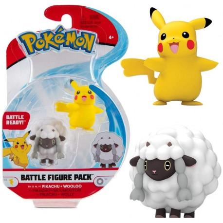 Pokemno Mini Figur Pikachu & Wolly Serie 8