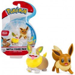 Pokemon Battle Figure Pack Mini Figur Evoli und Voldi Serie 8