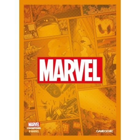 MARVEL CHAMPIONS art sleeves Marvel orange