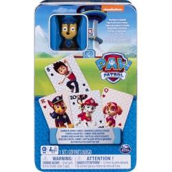 Paw Patrol Kartenspiel in der Metallbox inkl. Figur