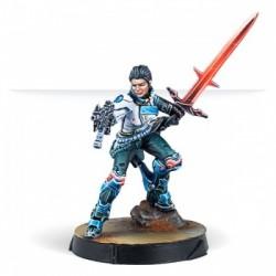 Infinity CodeOne Shona Carano Aristeia Swordmaster Submachine gun