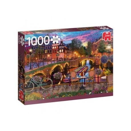 Puzzle Die Grachten von Amsterdam 1000T