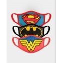 Superman Batman Wonder Woman Adjustable Gesichtsmaske (3er Pack