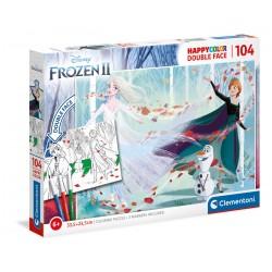 Puzzle Frozen 2 104 T Happy Color Double Face