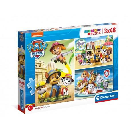 Puzzle Paw Patrol 3 x 48 T Supercolor