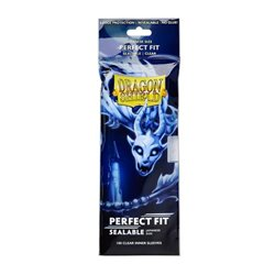 Dragon Shield: Perfect Fit Inner Sleeves Japanese Size - Sealable – Clear (100)