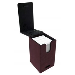Ruby Suede Alcove Tower Deck Box
