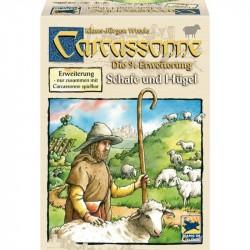 Carcassone Erw. 9 Schafe und Hügel