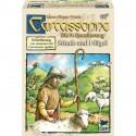 Carcassone Erweiterung 9 Schafe und Hügel
