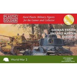Plastic Soldier 20mm WWII German 1/72nd Panzer 38T and Marder options
