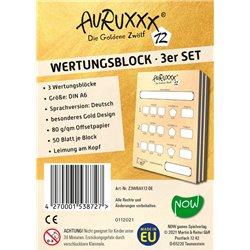 AURUXXX Zubehör - Wertungsblock 3er Set