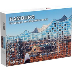 Puzzle Hamburg im Spiegel der Elbphilharmonie