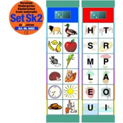 Flocards Set SK2: Buchstaben und Wörter