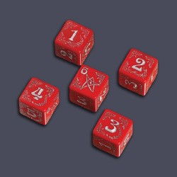 Arkham Horror Cursed Dice Set Red QW04