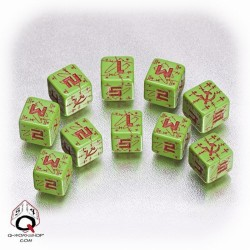 Axis & Allis Battle Soviet Dice Green Red